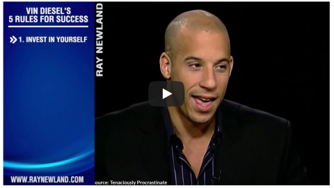 Vin Diesel Top Tips For Success